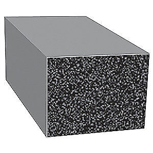 TRIM LOK INC EPDM Rubber Seal,Rectangle,0.5 In W,25 Ft, X272HT-25