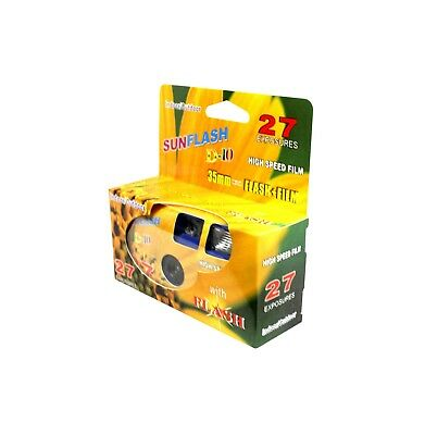 One Time Single Use Disposable SunFlash Camera D-10 High Speed Film