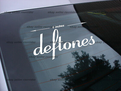 Deftones rock band decal sticker (2) decals