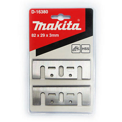 "Makita 3-1/4"" (82mm) HSS Planer Blades for Makita 1900B Dewalt Bosch Set of 2"