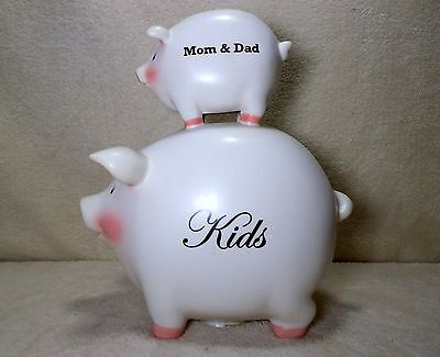 piggy bank - mon dad and kids