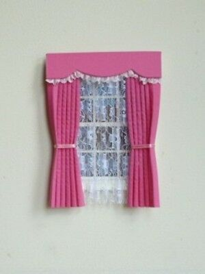 Dolls House Curtains Candy Pink