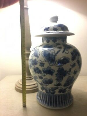 chinese ginger jar, Temple Jar, Blue And White, Chinoiserie