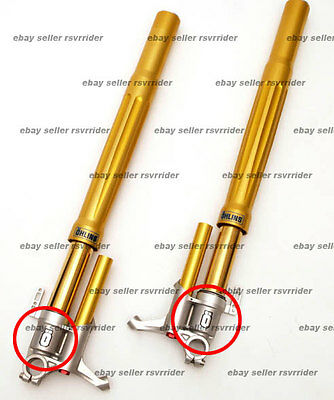 """ohlins """"O"""" fork decal sticker comes in a pair of (2)"""