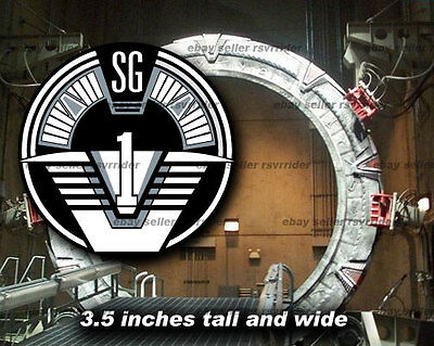 stargate sg-1 round decal sticker *free shipping sg1