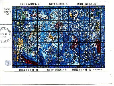 """Un 1967  Ss. """"chagall Window"""" - Artist Marc Chagall - Cancelled On Paper"""