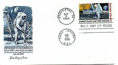 Usa -1969 Fdc.apollo 11 Mision Man's First Landing On The Moon - Neil  Armstrong