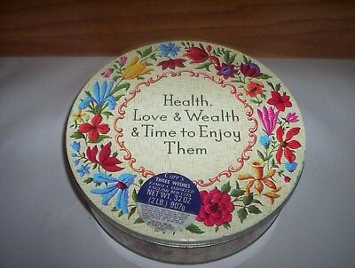 Carr's 2lb English Biscuits Tin : Health, Love & Wealth & Time to Enjoy Them