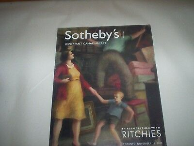 Sotheby's Important Canadian Art Catalog Nov 18 2003 Catalog Ritches Sale #702