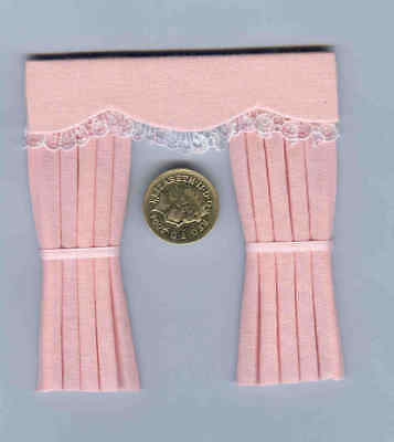 Dolls House Curtains Baby Pink For Dormer Windows