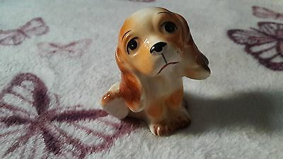 Porcelain Miniature Puppy, Unmarked.