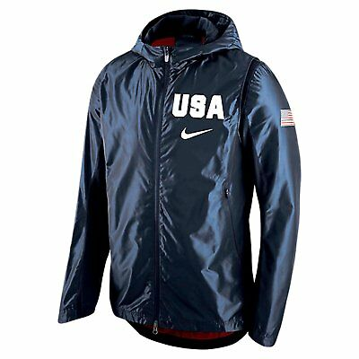 Size Small Nike Usa Basketball Revolution Hooded Mens Jacket (802020-451)