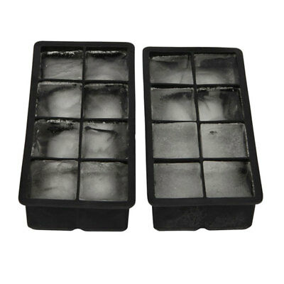 8 Big Cube Giant Jumbo Silicone Ice Square Tray Mold Mould Home Kitchen Drinking