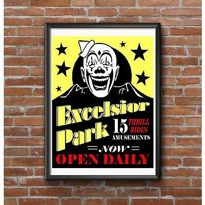 Excelsior Park Poster - Amusement Minneapolis St. Paul Minnesota 15 Thrill Rides