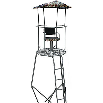15' Tripod Roof Cover Deer Stand Tower Climb Hunting Ladder Tree Stand Roof Kit