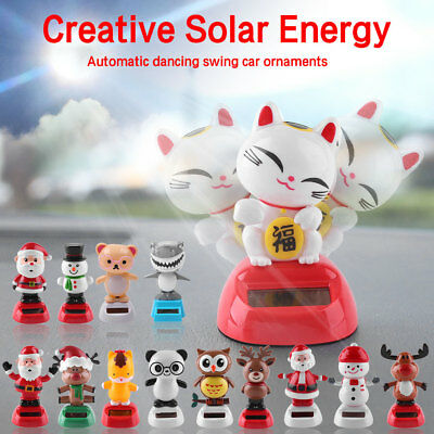 Creative Car Decor Solar Powered Animal Swing Animated Bobble Dancer Toy Gift