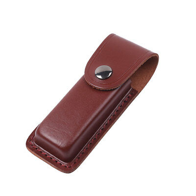 Real Leather Foldable Knife For Hunting Dagger Sheath Cover Case Holder Brown