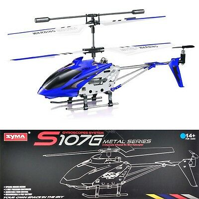 Syma S107G Remote Control Helicopter Motion Sensor Gyro 3 Channel Metal Body