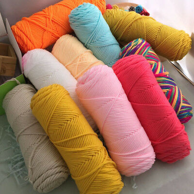 Lot Of Crochet Knitting soft yarn Milk fiber cotton Chunky 8 Ply  Crafts 100g
