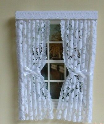 Dolls House Curtains Pretty Nets & Bows