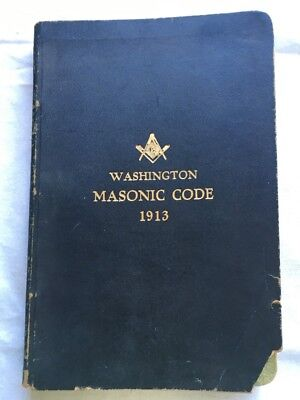 Vintage 1913 Washington Masonic Code Freemason