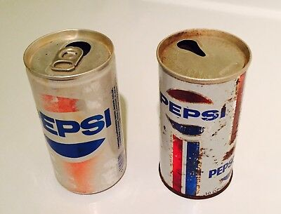 Pepsi Cola Cans Old Vintage Collectable Pepsi Soda Cans (lot Of 2)