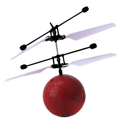 New Electric RC Fly Ball Infrared Induction Aircraft Flash LED Light Remote Toy