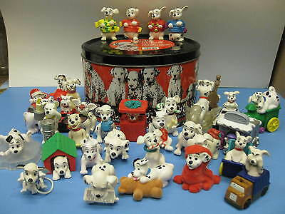 101 DALMATIANS 34 McDonalds Dogs HAPPY MEAL TOYS & TIN METAL CANISTER DISNEY