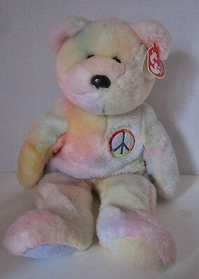 Ty Peace Buddy Bear 1999 With No Name On Tag?