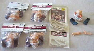 Lot of 5 New Elf Extremities as Well as 2 Natural Wool Hair Extensions