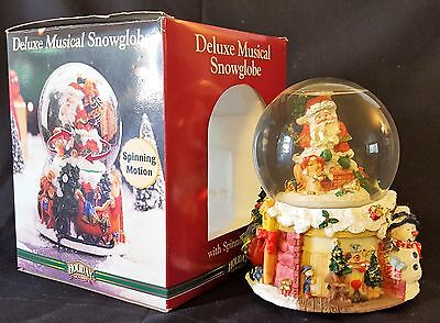 Deluxe Musical Christmas Snow Globe with Spinning Motion