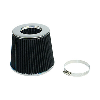 "Universal Racing Air Filter 3"" 76mm Black Performance High Flow Cold Air Intake"