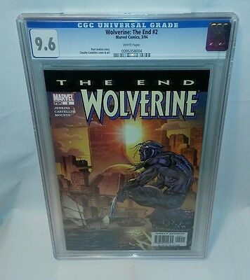 ☆ Marvel Wolverine The End #2 Cgc Graded 9.8 White Pages ~Paul Jenkins Story F/s