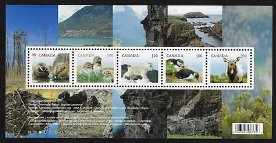 Canada Stamps - Souvenir sheet of 5 - Baby Wildlife #2709 - MNH
