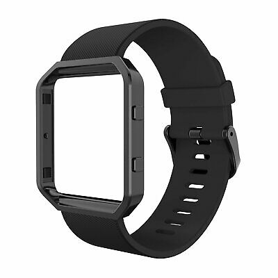 Bands with Frame for Fitbit Blaze , Simpeak Silicone Replacement Band Strap