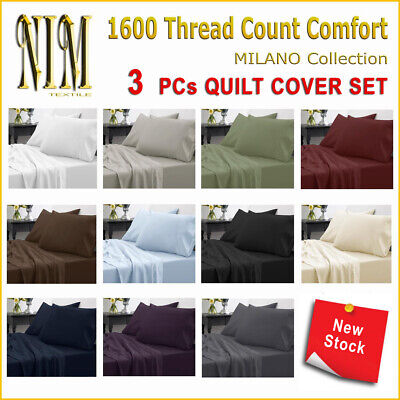 NEW Soft Quilt Doona Duvet Cover Set Pillow cases DOUBLE QUEEN KING Size