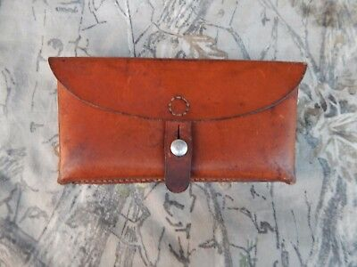 Post WWII Swiss Army Leather Sattler FR. DWYLER Sig Stgw57 Ammo Mag Pouch 1966