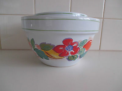 Vintage Hand Painted Fine Ceramic 3 Piece Mixing Bowls