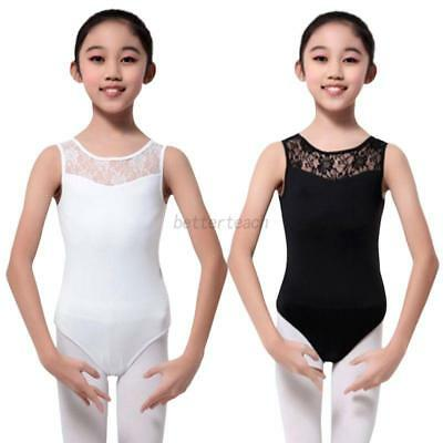 Baby Girls Lace Sleeveless Camisole Leotard Ballet Dancing Dancewear Clothes New
