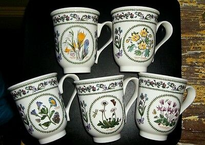 Portmeirion Variations Pattern Beaker Mugs - Made In Britain