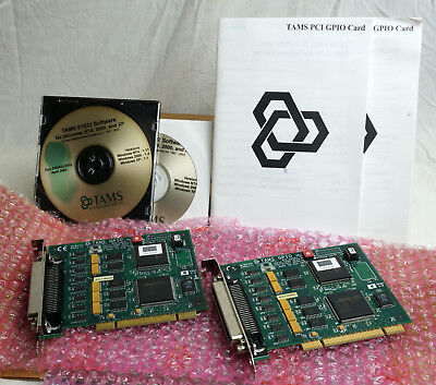TAMS 61622  32 Bit PCI GPIO Cards, With Manual and Software.  Lot of 2 New Cards