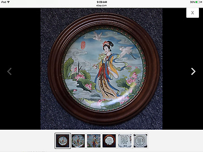 "中国工艺美术大师赵惠民的彩盘《百花仙女》Chinese arts and crafts master Zhao Huimin color plate ""flow"