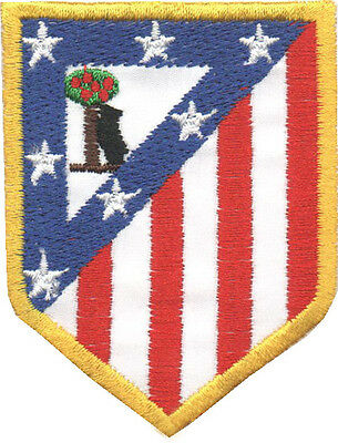 PARCHE bordado en tela ESCUDO ATLETICO DE MADRID, EMBROIDERED PATCH, FUTBOL