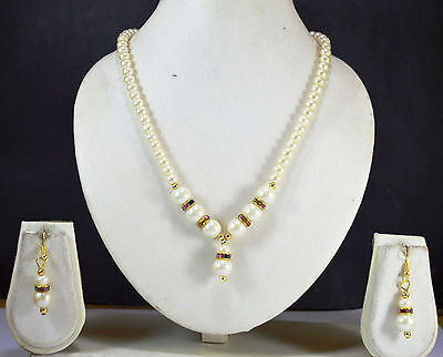 Indian Jewelry Bollywood New women Necklace set Traditional Ethnic Gold hot PLUS