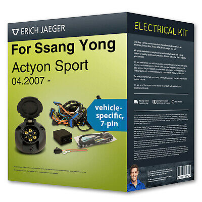 Towbar wiring kit 7-pin spec. ›for SSANG YONG Actyon Sport 04.2007- Erich Jaeger