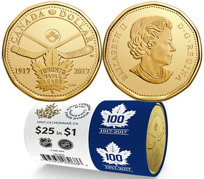 1917-2017 Toronto Maple Leafs 100th Anniversary $1 Special Wrap Roll Canada