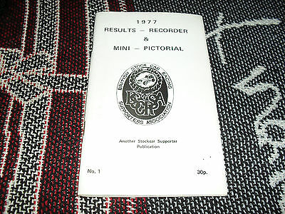 1977 Results Recorder & Mini Pictorial - Brisca Stockcar Supporter Publication