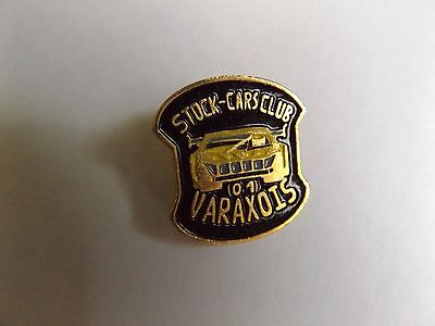 Vintage Enamel Pin Badge - Stock Cars Club Varaxois - French France
