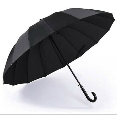 Super large size umbrellas 16k windproof men's business golf long handle parasol