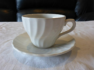 Churchill England Cup Saucer Duo Chelsea White